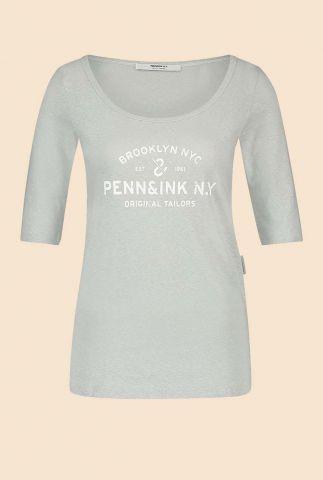 licht grijs t-shirt met ronde hals w20f784lab