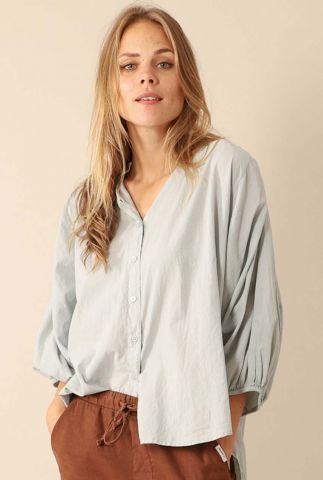 licht grijze oversized blouse met knoopjes w20f793lab