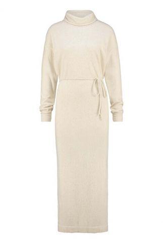 jurk met ceintuur van linnenmix w20f838