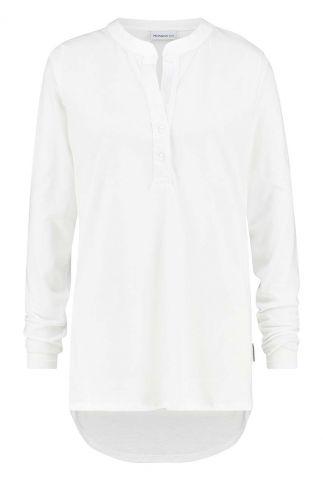 witte blouse met langere achterkant w20f839