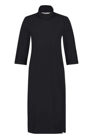zwarte jurk met col w20m-bess