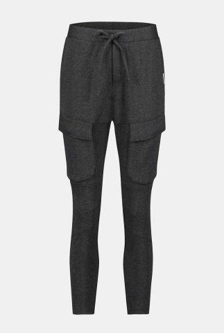 broek met ingeweven dessin en klepzakken w20n791