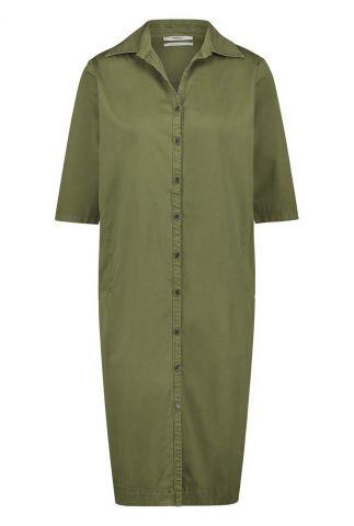 khaki jurk met strik detail op de rug w20w284