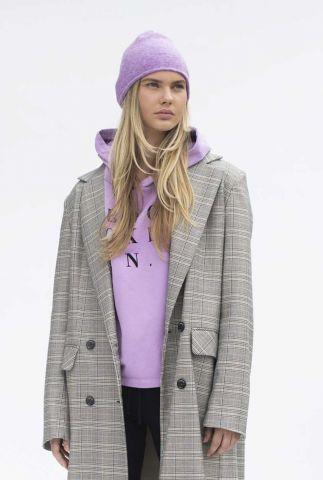 katoenmix hoodie met tekst opdruk brooklyn w21f968