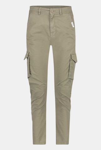 groene katoenen broek met grote zakken w21w391