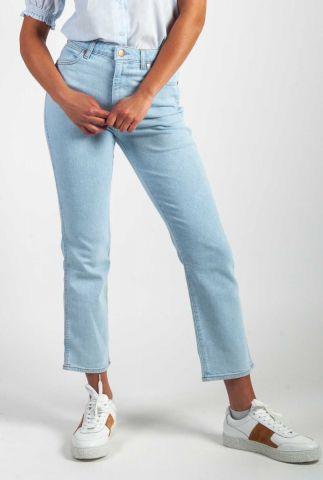 lichte high waist jeans met rechte broekspijpen w22ajhxa3