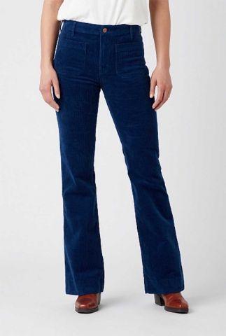 donker blauwe corduroy flared jeans W233A2X09