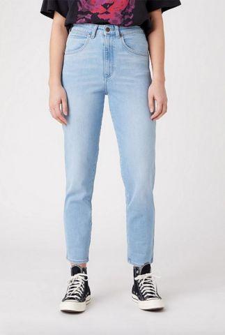 licht blauwe high waist mom jeans W246ZH280