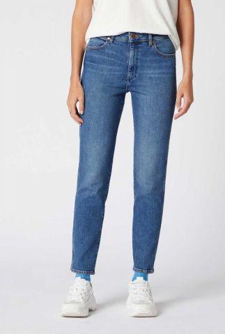 blauwe straight fit jeans retro skinny w253jx10a