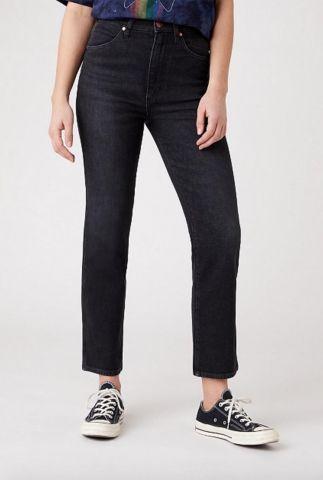 donkere high waist straight jeans wild west W2H2KO96B
