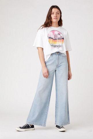 lichte jeans met wijde pijpen worldwide jeans W2H5DD233