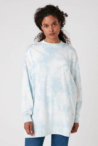 oversized sweater in tie-dye dessin W6Q4HAB27