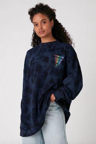 donkere oversized tie-dye sweater W6Q4HAB28