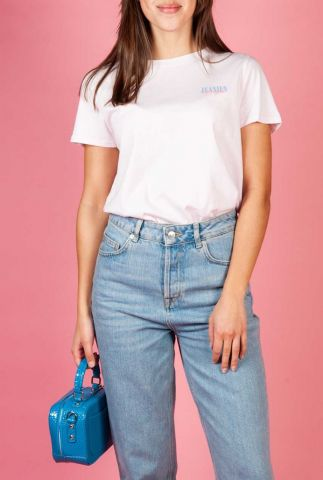 licht roze t-shirt met opdruk op achterkant w7n4ghxbj regular tee