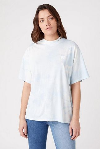 oversized t-shirt in tie-dye dessin girlfriend tee W7Q9GHB27