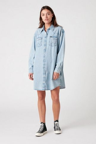 lichte denim blouse jurk western dress W9P6LWX4E