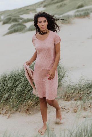 donker roze jurk met ronde hals adult dress fiep