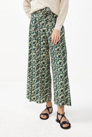cropped crêpe broek met botanische print wanda tropico pant