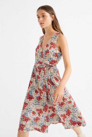 mouwloze jurk met bloemen dessin amapola wdr00081