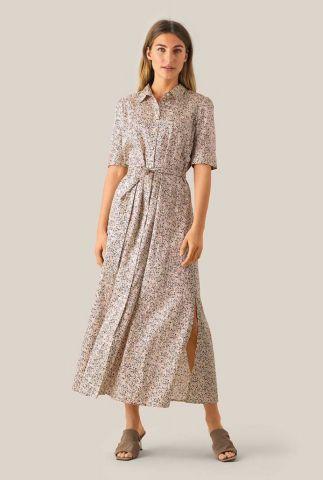 maxi jurk met fijne bloemen dessin en zijsplit wing maxi dress