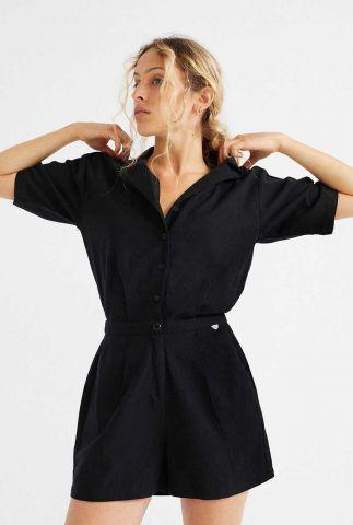 zwart jumpsuit met knoopsluiting jade wjs00038