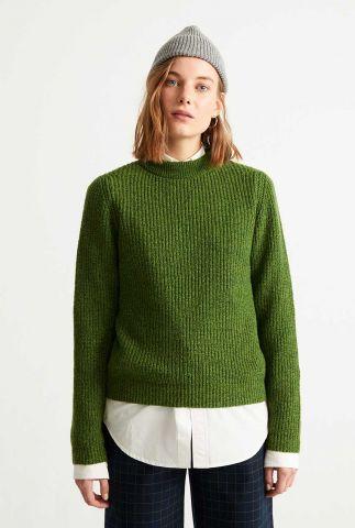 groene grof gebreide trui hera knitted sweater wkn00080