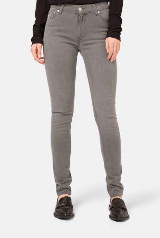 duurzame grijze skinny jeans met high waist sk hazen o3