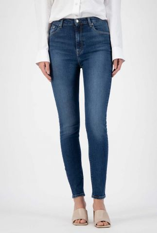 high waist skinny jeans van biologisch katoen sk sky rise