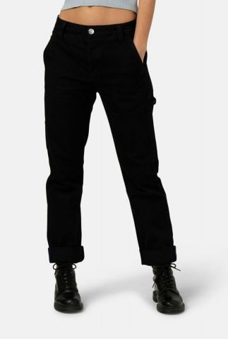 duurzame zwarte jeans met loose fit will worker dip black