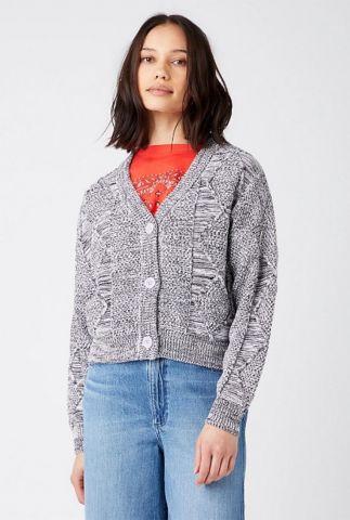 lila / zwart grof gebreid vest corrupted knit W8P4Q5P37