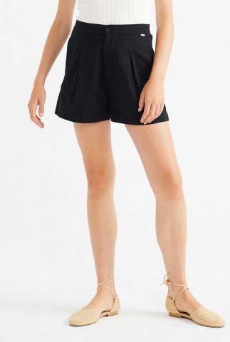 zwart short met elastische tailleband narciso wst00030
