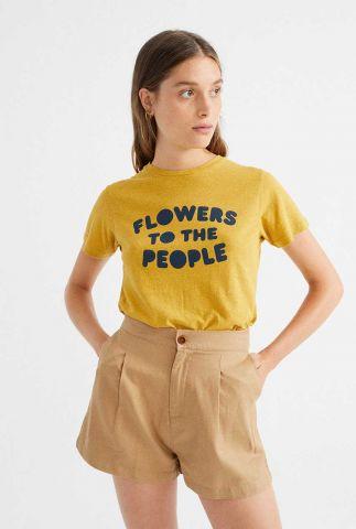 beige shorts met plooien narciso wst00032