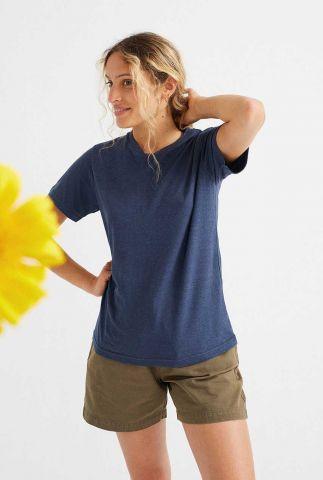 donkerblauw t-shirt met ronde hals juno wts00214