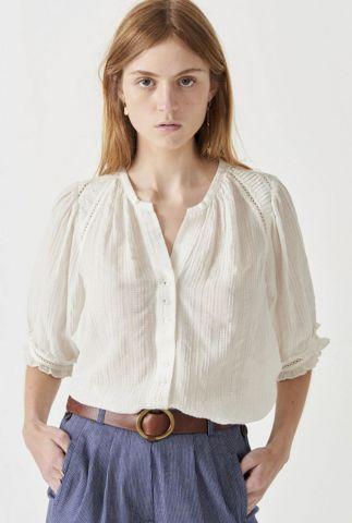 witte blouse met ajour details kimia