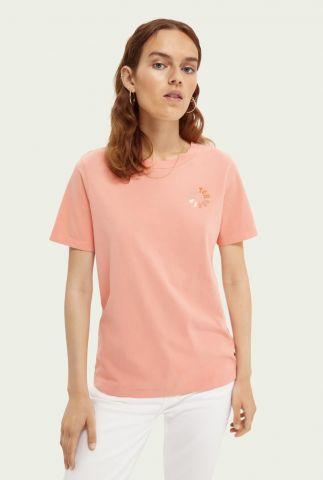 zacht roze t-shirt van biologisch katoen 162812