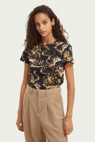 biologisch katoenen t-shirt met all-over dessin 163769