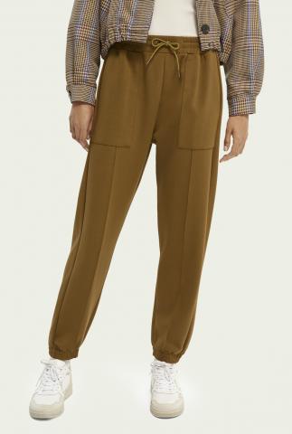 olijfgroene joggingbroek met elastische taille en zakken 163685