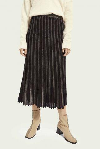 zwarte plissé rok met lurex glitters 159113