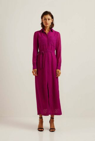 paarse maxi jurk met zigzag patroon provence zig zag