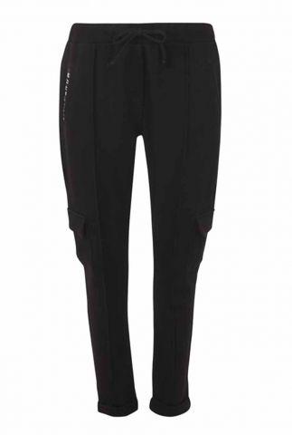 zwarte joggingbroek met elastische taille en zakken 215amanda
