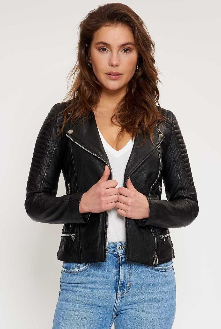 Goosecraft Leren Jack biker128 101410002 | Dames | Kleding